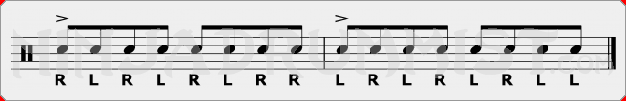 Triple Paradiddle PAS Rudiment Sheet Music