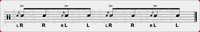 Flam Tap PAS Rudiment Sheet Music
