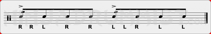 Single Dragadiddle PAS Rudiment Sheet Music