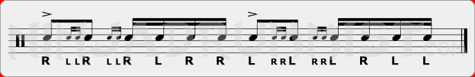 Drag Paradiddle 2 PAS Rudiment Sheet Music