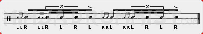 Double Ratamacue PAS Rudiment Sheet Music
