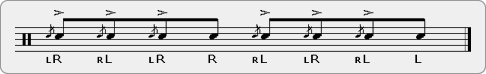 Patty Flam Tap Rudiment Sheet Music
