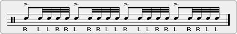 Reverse Five Rudiment Sheet Music