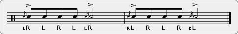 Single Stroke Five-a-Flam Rudiment Sheet Music