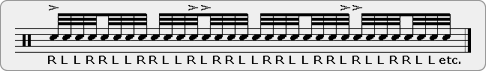 Slurred Twelve Stroke Roll Rudiment Sheet Music