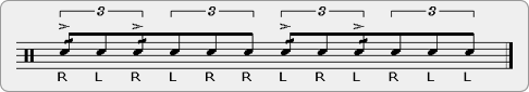Swiss Double Paradiddle Rudiment Sheet Music