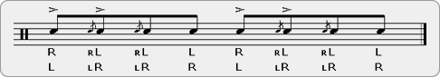 Tu-Cha-Chada Rudiment Sheet Music
