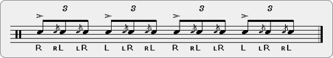 Tu-Chacha Rudiment Sheet Music